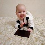 Бизнесмен младенца стоковое изображение rf