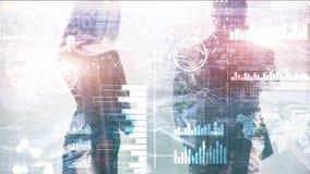 Бизнес-аналитика Диаграмма, диаграмма, торговля акциями, приборная панель вклада, прозрачная запачканная предпосылка стоковые изображения rf