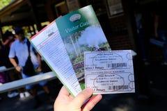 Билет сопя Билли - поезд пара в Belgrave, Мельбурне, Австралии стоковые изображения rf