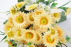 букет. Lush bouquet of yellow flowers on a white background Royalty Free Stock Images