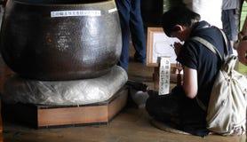 Буддийская моля церемония стоковое фото