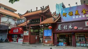 Буддийский висок в Nanning, Китае стоковое фото rf
