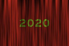 Будущая концепция на предстоящий 2020 Новых Годов стоковая фотография rf