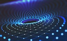 будущие технологии Воронка информации глобальная вычислительная сеть иллюстрация вектора