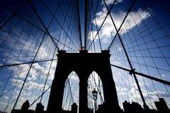 Бруклинский мост и Манхаттан стоковая фотография