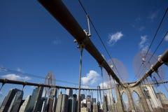 Бруклинский мост и Манхаттан стоковое изображение