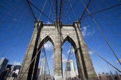 Бруклинский мост и Манхаттан стоковые изображения rf
