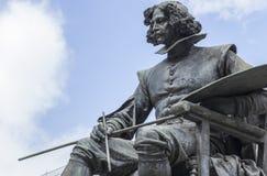 Бронзовая статуя художника Diego Velazquez стоковая фотография