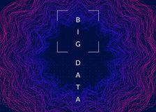 Большая предпосылка данных Технология для визуализирования, искусственного интеллекта, глубоко учить и квантового вычисления иллюстрация вектора
