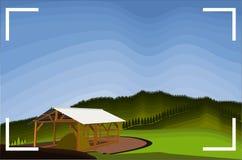 Большинств изумительные фото взгляда холма Бандунга Teletubbies иллюстрация вектора