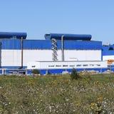 Большой завод для обрабатывать металлолом стоковая фотография