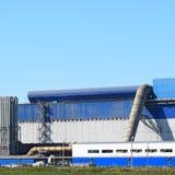 Большой завод для обрабатывать металлолом стоковое фото