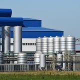 Большой завод для обрабатывать металлолом стоковые фото
