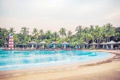 Большой или огромный бассейн Сиама Park City или Suan Сиама стоковые изображения