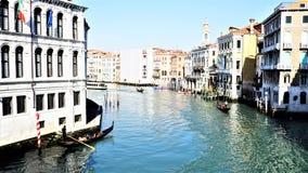 Большой канал Венеции транспортная система города стоковая фотография
