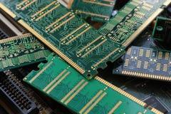 Большой конец-вверх Модули RAM, главным образом используемые как главная память в персональных компьютерах, рабочих местах, и сер стоковое изображение