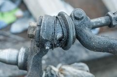 Важные компоненты частей автомобиля стоковое фото rf