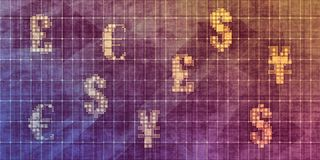 Валюты мира иллюстрация вектора