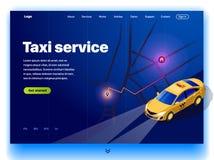 Вебсайт обеспечивая обслуживание такси иллюстрация штока