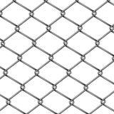 Вектор картины 3d загородки звена цепи реалистический иллюстрация вектора
