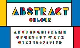 Вектор современного абстрактного шрифта иллюстрация вектора