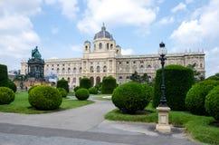 Вена, Австрия - 15-ое июля 2013: Английский язык музея Kunsthistorisches: История музея изобразительных искусств, также часто наз стоковое изображение rf