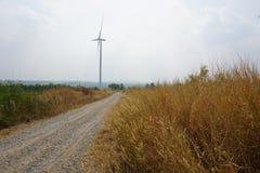 Ветровая электростанция Таиланда стоковая фотография