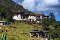 Верхнее Lhakhang монастыря Phajoding, Тхимпху, Бутана стоковое изображение rf