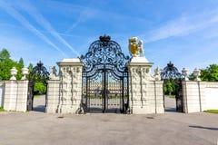 Верхний вход дворца бельведера, Вена, Австрия стоковое изображение rf