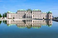 Верхний дворец бельведера в вене, Австрии стоковая фотография
