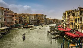 Взгляд грандиозного канала в Венеции стоковое фото