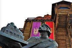 Взгляд золотых ворот fortless, расположенный в центре города Киева, Украина стоковое фото