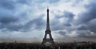 Взгляд панорамы Парижа, Эйфелевой башни, Франции стоковые фото
