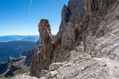 Взгляд доломитов Brenta горных пиков стоковые фото