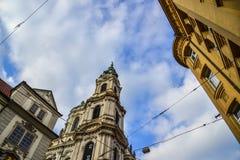 Взгляд улицы Праги, чехии стоковые изображения rf