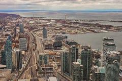 Взгляд центра города Торонто, вид с воздуха архитектуры Торонто городской стоковые фото