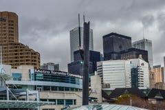 Взгляд центра города Торонто, городской ратуши стоковое изображение rf