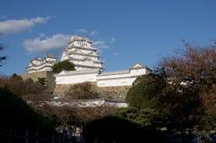 Взгляд чудесного замка Himeji в Японии стоковое изображение rf