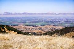 Взгляды к Salinas от парка Toro, Калифорния стоковое фото rf