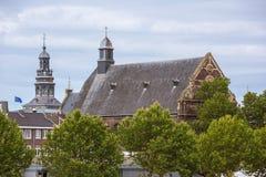 Взгляд Augustinian церков и городской ратуши стоковые изображения