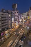 Взгляд Bird's японского пересечения скрещивания района fashion's молодежной культуры Harajuku Laforet назвал чемпионов-élysà стоковое изображение rf