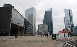 Взгляд обороны, деловой район панорамы в Париже, Франции стоковая фотография rf