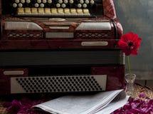 Винтажные ключи аккордеона стоковое изображение