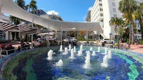 Видео промежутка времени торгового центра дороги Miami Beach Линкольна видеоматериал