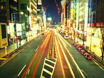 Вид на город ночи Shibuya, Токио стоковое изображение rf