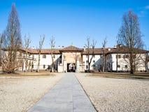 вид спереди ворот к di Павии Certosa стоковые фотографии rf
