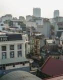 Вид с воздуха старого квартала Ханоя, Вьетнама стоковые изображения rf