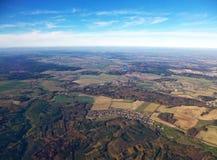 Вид с воздуха страны около Parague, чехии стоковое фото rf