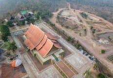 Висок Sirinthorn Wararam Phupao или популярно названный накаляя висок, расположенный на провинции Ubon Ratchathani, Таиланд стоковая фотография