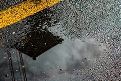 Влажная дорога стоковое изображение rf
